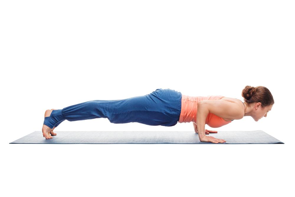 yoga pose half plank